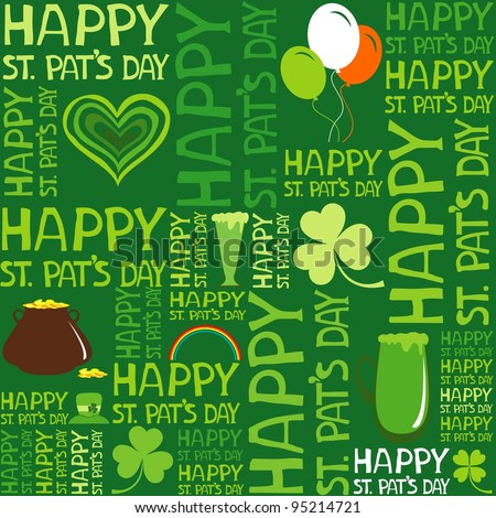 Seamless St.Patrick's day background. Illustration