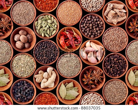 Seamless texture background of spices