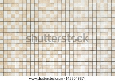 Seamless texture beige and white tile. Design pattern background. Design concepts. #1428049874