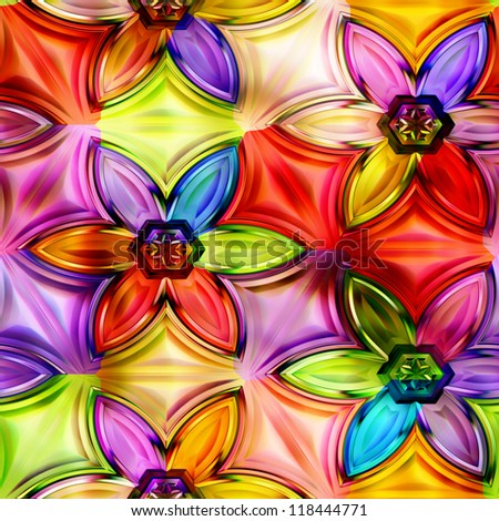seamless texture flowers