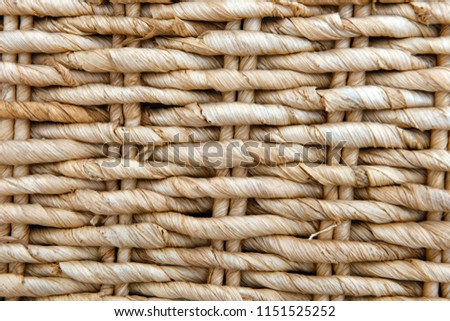 Seamless texture of basket surface. Pattern background. Wooden Vine Wicker straw Basket. handcraft weave texture natural wicker, texture basket, Natural rattan. Detail of a curved basket weave surface - Shutterstock ID 1151525252