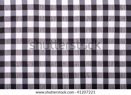 seamless texture of black and white blocked tartan cloth