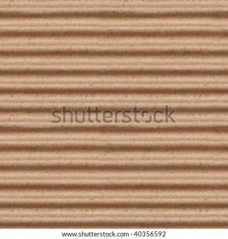 seamless texture of brown corrugate cardboard background