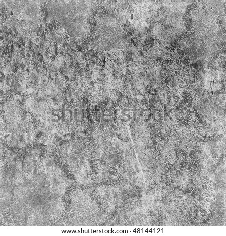 Seamless texture of dirty gray concrete wall with spots