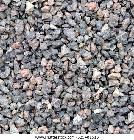 Seamless texture of gravel in HDR mode for game design #525481513