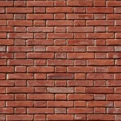 Seamless texture of red ceramic brick wall flemish bond. Certaldo. Italy.