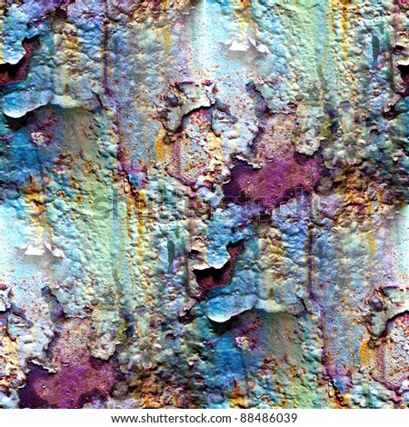 seamless texture of rusty colored rough