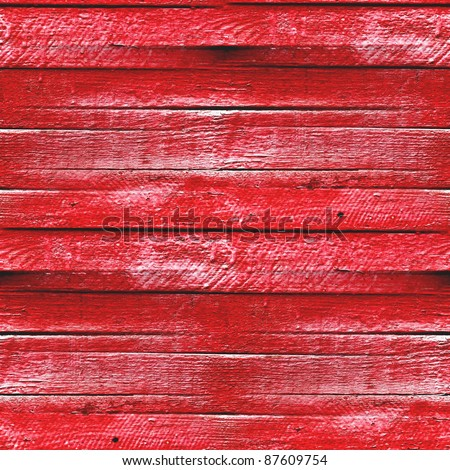 seamless texture of the wooden fence of the old red