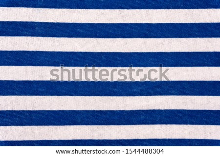 Seamless texture of vest striped fabric with blue and white horizontal stripes. #1544488304