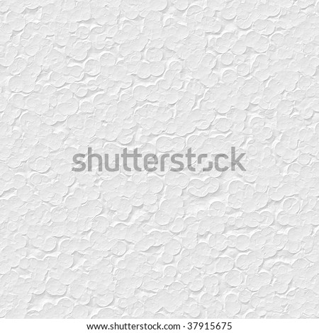 seamless texture of white polystyrene surface in closeup - stock photo