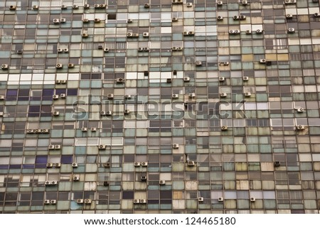 Seamless texture resembling windows of a modern skyscraper. Independence Square, Montevideo, Uruguay,