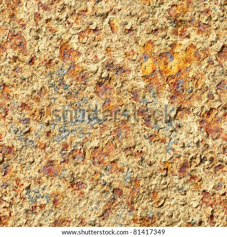 Seamless texture - surface of oxidized old iron sheet
