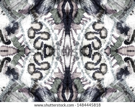 Seamless Tie Dye Wallpaper. White Dots. Hand Drawn Dyed Luminous Charcoal Tones. Tribal Dyed Old Style. Ink Japanese Carpet. Textile Textile. Ikat.
