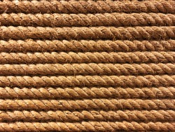 seamless tied rope in a row in parallel line background in closeup full frame.