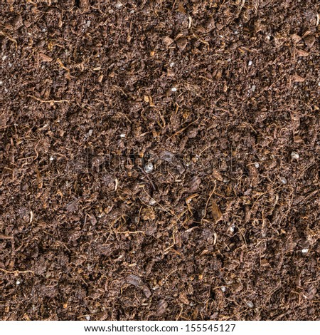 Seamless Tileable Texture of the Brown Soil.