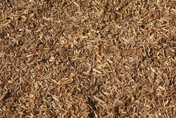 Seamless tiling woodchips for landscaping.  Great texture background