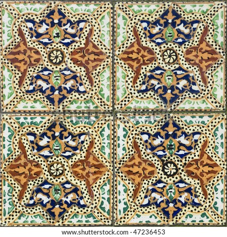 Seamless traditional mosaic pattern for backgrounds,coverage outside of buildings, high-res JPEG.