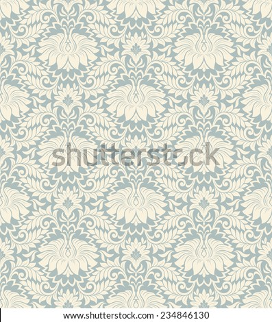 seamless vintage damask pattern background with floral retro ornament  in antique baroque style ornate decorative  calligraphy design flower