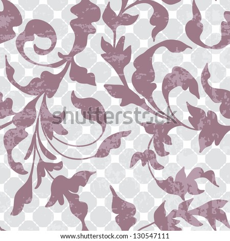 Seamless vintage floral background for design