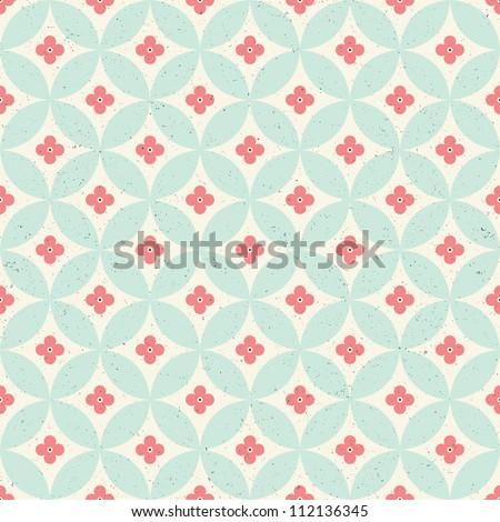 Seamless vintage pattern. Raster version