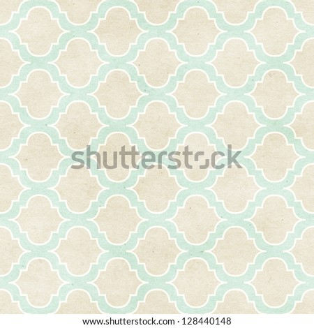 Seamless vintage wallpaper pattern on paper texture