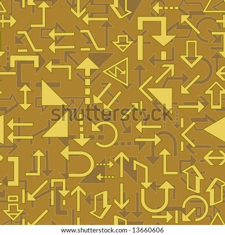 Seamless wallpaper with arrow signs. Vector version is in my portfolio