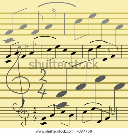 Seamless wallpaper with music notes. Vector version - in my portfolio