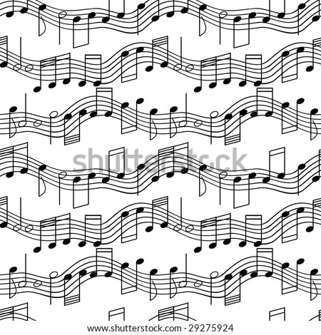 Seamless wallpaper with music notes. Vector version is in my portfolio