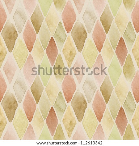 Seamless watercolor pattern in warm colors