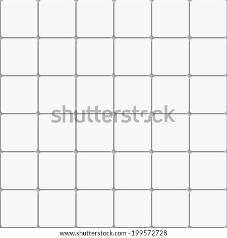 Seamless White Square Ceramic Tiles Background With Realistic Shadow 3d Simple Geometric Pattern