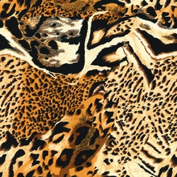 Seamless wild safari skin pattern. Mix of Tiger skin, jaguar skin.