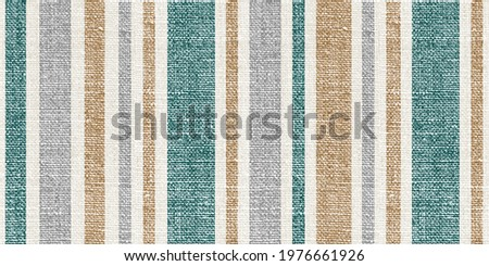 Seamless Winter striped pattern with Linen Fabric Texture. Snow green, gray and gold accent with all-over repeat print design. Suitable for all kind of Textile prints and home decor products.