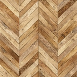 Seamless wood parquet texture (chevron light brown)