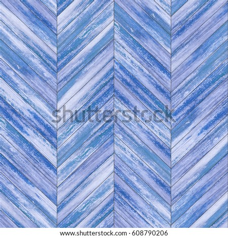 Seamless wood parquet texture (chevron painted) #608790206