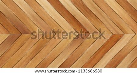Seamless wood parquet texture (horizontal chevron brown) #1133686580