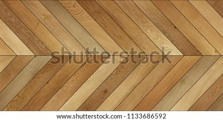 Seamless wood parquet texture (horizontal chevron brown) #1133686592