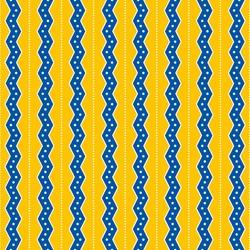 Seamless Yellow & Blue Zig Zag Stripes Background
