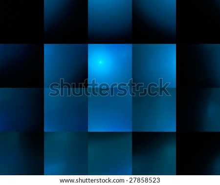 Seamlessly abstract blue background with square cells.