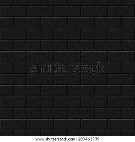Seamlessly black wall background - texture pattern for continuous replicate.