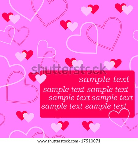 Sample Text Wallpaper Hearts And Sample Text