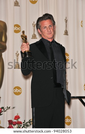 Sean Penn at the 81st Academy Awards at the Kodak Theatre, Hollywood. February 22, 2009  Los Angeles, CA Picture: Paul Smith / Featureflash