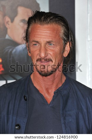"Sean Penn at the world premiere of his movie ""Gangster Squad"" at Grauman's Chinese Theatre, Hollywood. January 7, 2013  Los Angeles, CA Picture: Paul Smith"