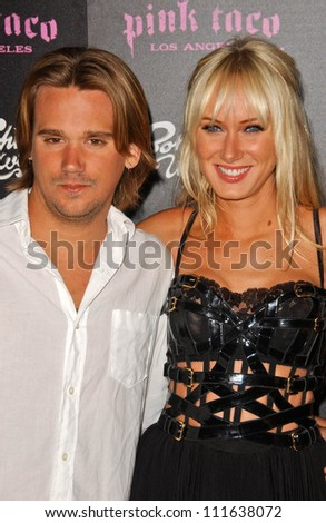 Sean Stewart and Kimberly Stewart at the opening of a Los Angeles outpost of Pink Taco. Pink Taco, Westfield Century City Mall, Los Angeles, CA. 06-28-07
