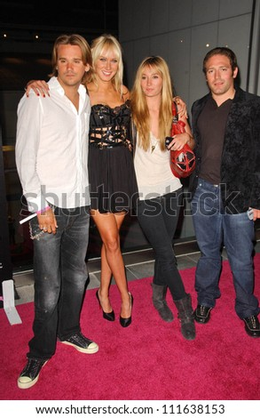 Sean Stewart with Kimberly Stewart and friends at the opening of a Los Angeles outpost of Pink Taco. Pink Taco, Westfield Century City Mall, Los Angeles, CA. 06-28-07 - stock photo