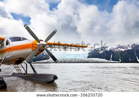 seaplane or float plane in...