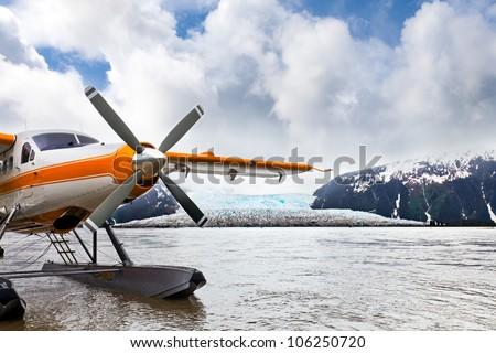 seaplane or float plane in...