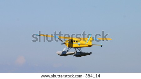 Seaplane taking off