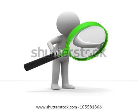 Search/A person is using the magnifying glass