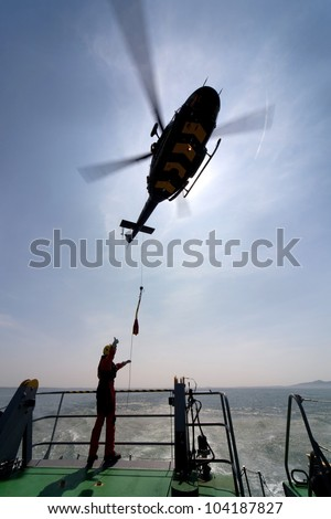 Search and Rescue Decks and Wets Training from RAF Valley Isle of Anglesey North Wales