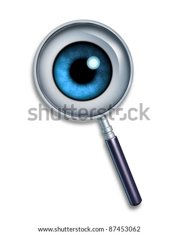 Search and searching symbol on the World Wide Web and FTP servers for internet meta searching using keywords and descriptions to find images videos or web pages and web sites using search engines. - stock photo
